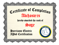 IPv6 Certification Badge for Abchosters