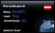 IPv6 Certification Badge for AllesEDV