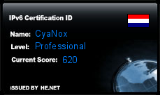 IPv6 Certification Badge for CyaNox