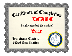 IPv6 Certification Badge for DCARC