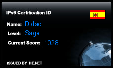 IPv6 Certification Badge for Didac