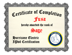 IPv6 Certification Badge for Fusa