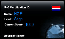 IPv6 Certification Badge for HGF