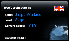 IPv6 Certification Badge for JasperWallace