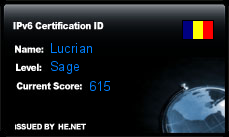 IPv6 Certification Badge for Lucrian