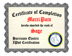 IPv6 Certification Badge for MarciPain
