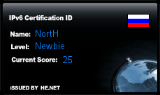IPv6 Certification Badge for NortH