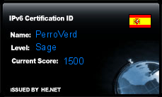 IPv6 Certification Badge for PerroVerd