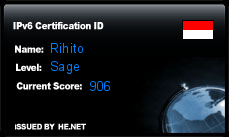 IPv6 Certification Badge for Rihito