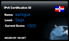 IPv6 Certification Badge for aantigua