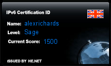 IPv6 Certification Badge for alexrichards