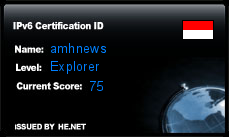 IPv6 Certification Badge for amhnews