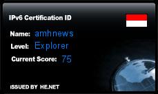 IPv6 Certification Badge for amhnews