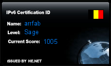 IPv6 Certification Badge for arrfab