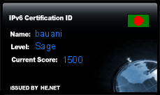 IPv6 Certification Badge for bauani