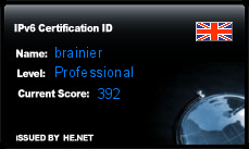 IPv6 Certification Badge for brainier