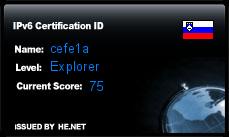 IPv6 Certification Badge for belial