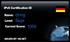 IPv6 Certification Badge for chmg