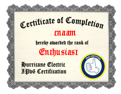 IPv6 Certification Badge for cnaam