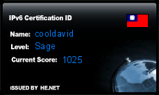 IPv6 Certification Badge for cooldavid