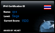 IPv6 Certification Badge for cpe