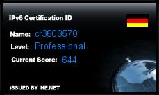 IPv6 Certification Badge for cr3603570