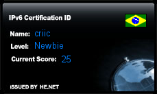 IPv6 Certification Badge for criic