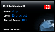 IPv6 Certification Badge for dngr