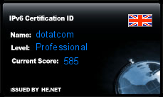 IPv6 Certification Badge for dotatcom