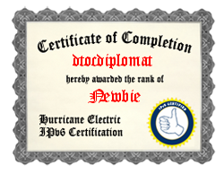 IPv6 Certification Badge for dtocdiplomat