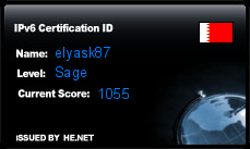 IPv6 Certification Badge for elyask87