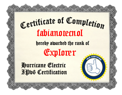 IPv6 Certification Badge for fabianotecnol