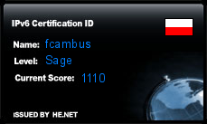 IPv6 Certification Badge for fcambus