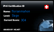 IPv6 Certification Badge for florianmahon