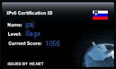IPv6 Certification Badge for gaj