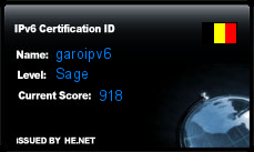 IPv6 Certification Badge for garoipv6