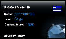 IPv6 Certification Badge for geomanous