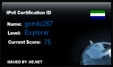 IPv6 Certification Badge for gondo267