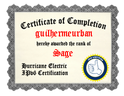 IPv6 Certification Badge for guilhermeurban