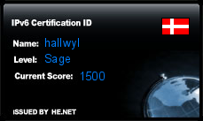 IPv6 Certification Badge for hallwyl