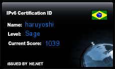 IPv6 Certification Badge for haruyoshi