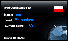 IPv6 Certification Badge for hemi