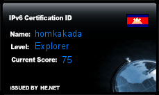 IPv6 Certification Badge for homkakada