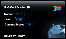 IPv6 Certification Badge for hvisage