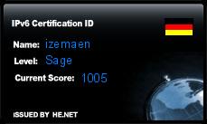 IPv6 Certification Badge for izemaen