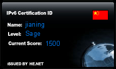 IPv6 Certification Badge for jianing