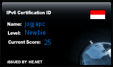 IPv6 Certification Badge for jogjapc