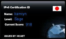 IPv6 Certification Badge for kamiyn