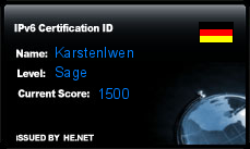 IPv6 Certification Badge for karsteniwen