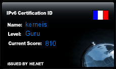 IPv6 Certification Badge for kerneis